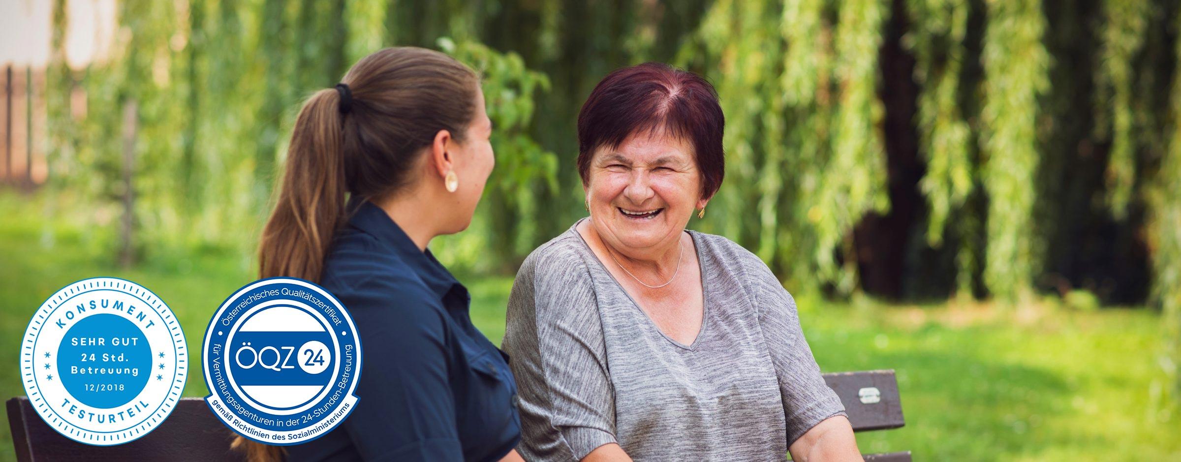 24 Stunden-Betreuung durch BestCare24-Pflegekräfte